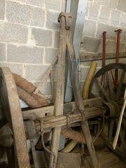 Alte Historische Einachser Holz Räder