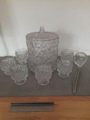 Bowle mit 6 Gläsern zu