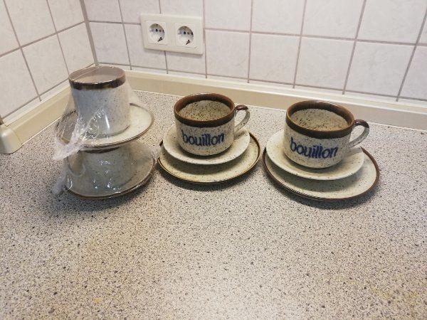 Kaffee - und Bouillontassen für 2 Personen