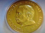 Sammlermünze Medallie-150Jahre Karl-May