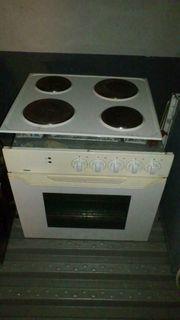 Einbauküchenherd 4-Plattenkochfeld weiß