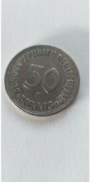 Münze 50 Pfennig G