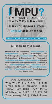 MPU Vorbereitung Training Hilfe BTM
