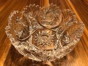 Exklusive Bleikristall Schale mit Schleuderstern