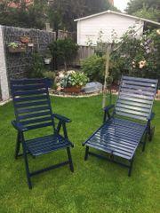 Terrassenstühle Roll-Liege und Tisch