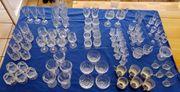 Gläser Sammlung Kristall Glas div