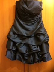 Abendkleid mit Stola blau Satin