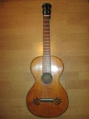 Historische antike Gitarre um 1850