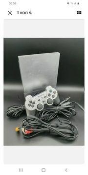 playstation 2 slim silber mit