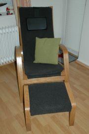 Sessel - Set mit Hocker dungelbraun