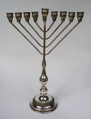 Chanukkaleuchter Chanukkia Judaica 925 Silber