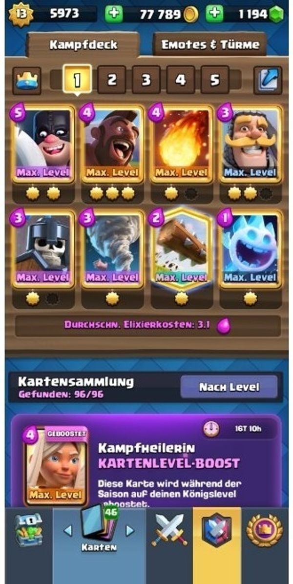 Clash Royale Lvl 13 Account