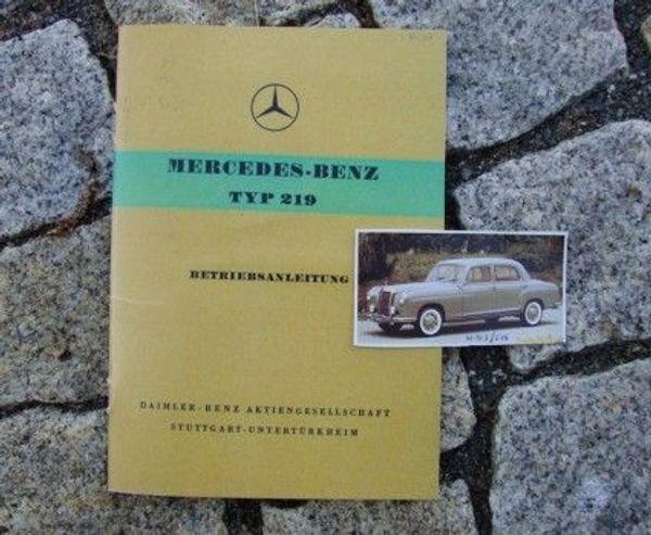 Betriebsanleitung Mercedes 219 W105 Ponton