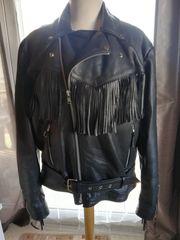 Biker Jacke Motorradjacke aus Leder