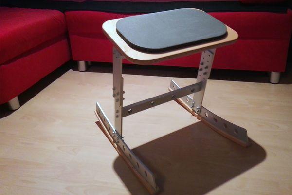 Gesundheitsstuhl - Bürostuhl Aluminium Holz für