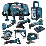 16tlg MAKITA Mega Set 18V