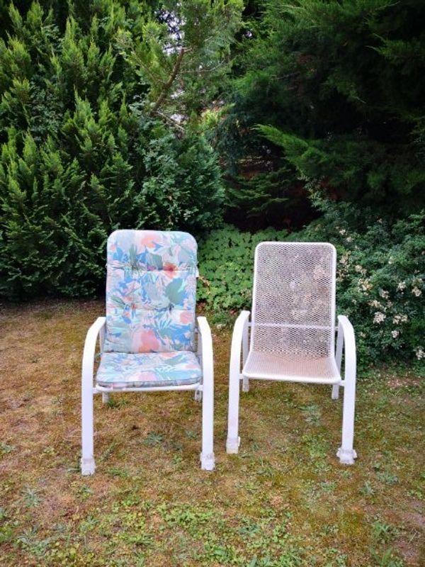 Gartenstühle/Balkon/Terrasse Metall weiß, stapelbar in Kraichtal ...