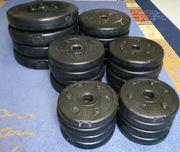 30 kg Gewichte 16 Hantelscheiben
