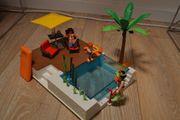 Playmobil Pool 5575 viel Zubehör