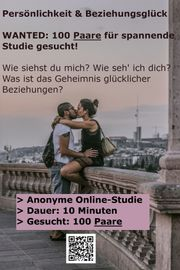Paare für spannende Online-Studie gesucht