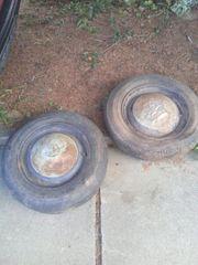 2 Felgen mit Reifen und