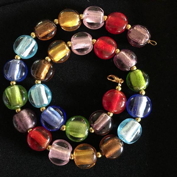 Halskette multicolor Modeschmuck 44 5