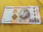 2000 Shilling Banknote zu verkaufen