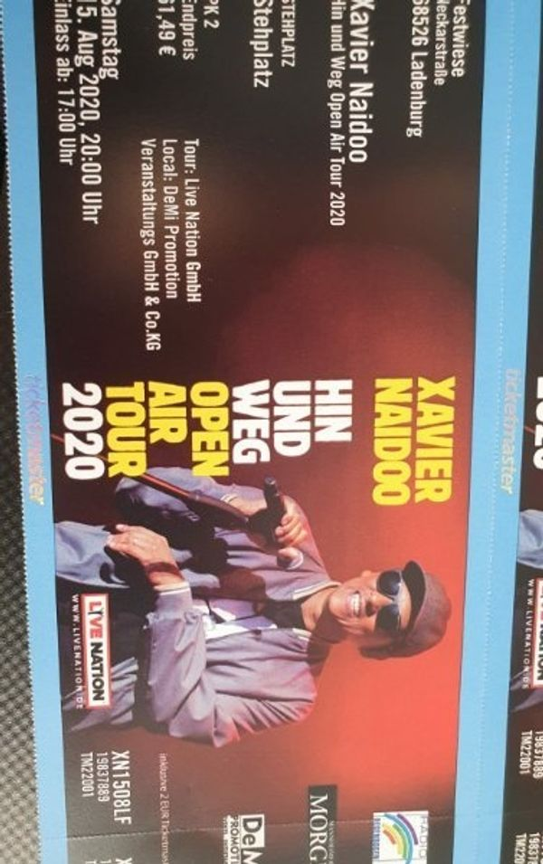 1 Xavier Naidoo Eintrittskarte