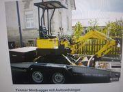 Minibagger samt Anhänger GESTOHLEN
