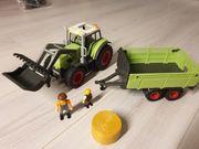 Playmobil Traktor mit Anhänger