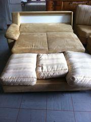 Ecksofa Couch mit Bettfunktion FM