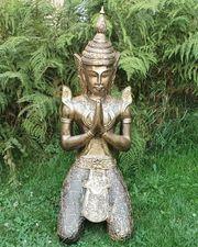 Gartenfigur Tempelwächter 80 cm Buddha
