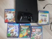 PS4 Playstation mit Controller Spiele