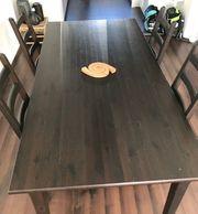 Brauner Esstisch inkl Stühle