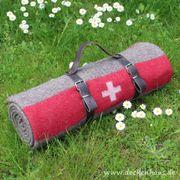 Schweizer Armeedecke 140x200cm grau mit