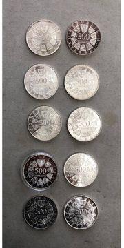 10 X 500 Schilling Silber