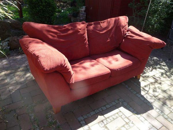 2 Holländische Gebrauchte Sofas In Rotbraun Günstig Abzugeben In