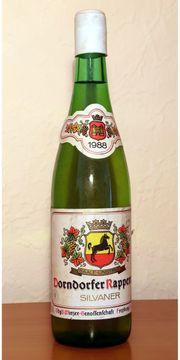 Wein DDR 1988er Dorndorfer Rappental