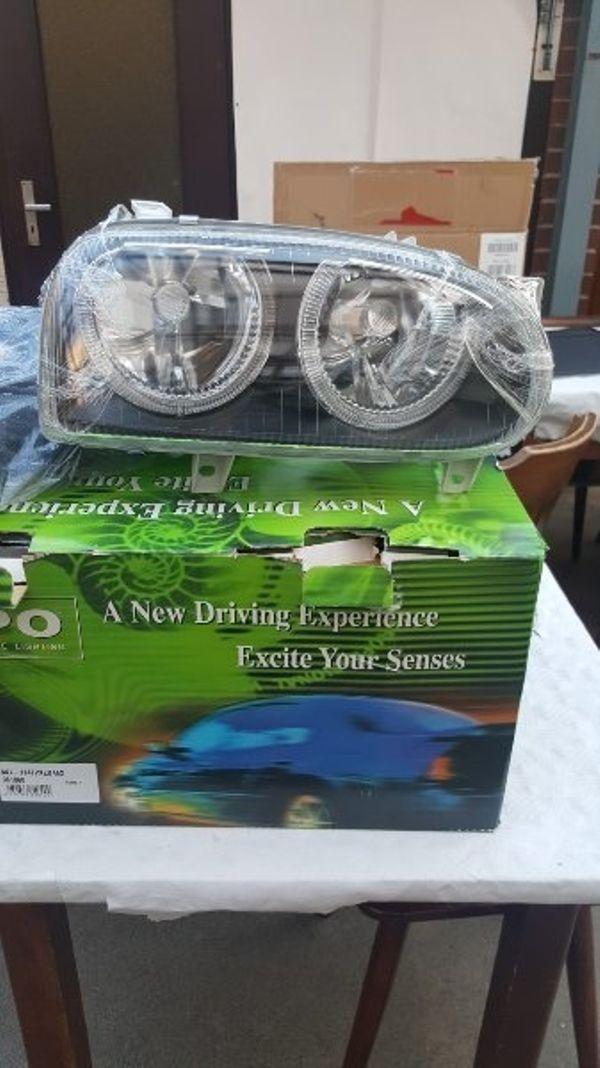 Angels Eyes Scheinwerfer - ölbronn-dürrn - zu verkaufen stehen nagel neue Angels Eyes Scheinwerfer für Golf 3 und vr6 mit kabelbaum komplett. Bei Fragen einfach melden. - ölbronn-dürrn