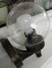 Aussenlampe Halter Bronzefarbig mit durchsichtiger