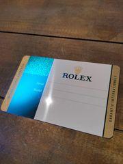 Rolex Zubehör Box Karte Booklets