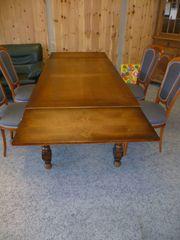 Holztisch ausziehbar echtholz dunkel