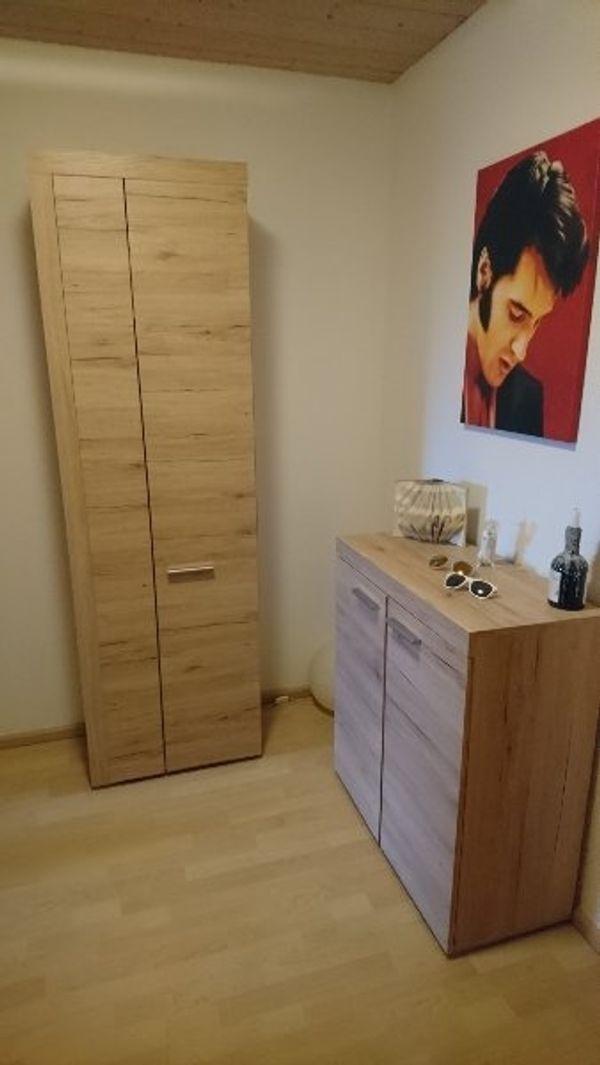 Garderobe 3 teilig in Holz