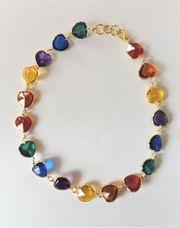 10 Halsketten - bunte Herzen
