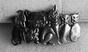 Haarspange Katzen Metall groß
