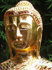 Geweihter Buddha Holzbuddha Original aus