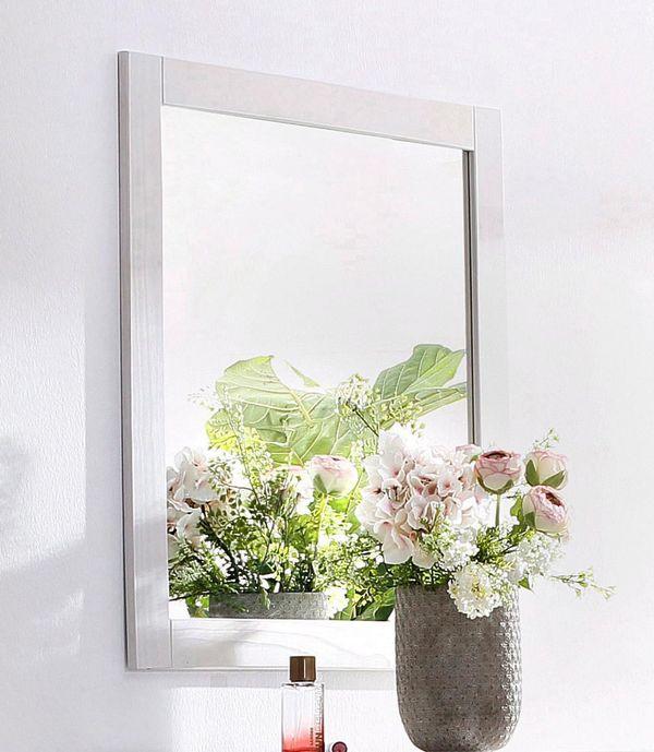 Neu Spiegel Weiss Massiv Holz Wandspiegel Flur Diele Garderobe In