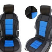 Sitzaufleger Sitzauflage Schonbezug UNI Blau-Schwarz