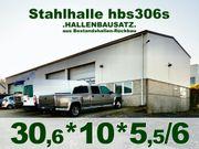 Gebrauchte Stahlhalle 30x10x5 5 6m