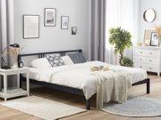 Holzbett marineblau Lattenrost 180 x